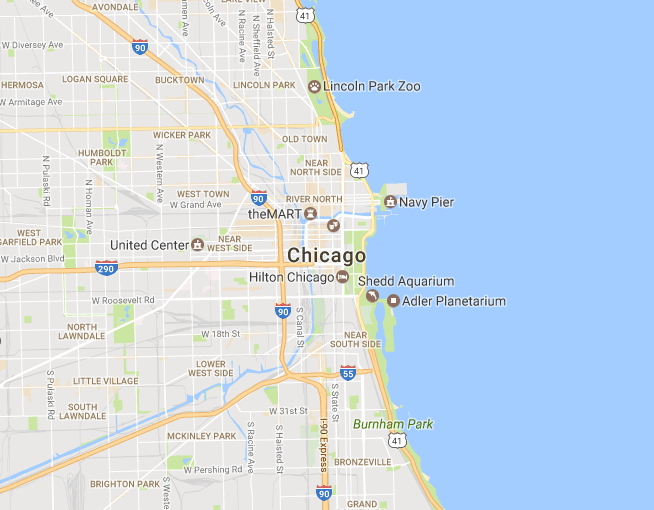 Image of static Google map